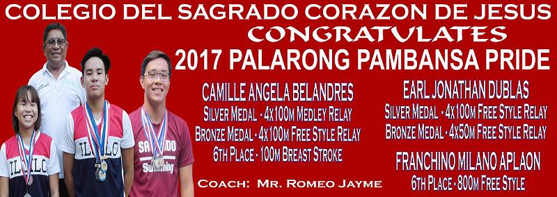 CSCJ 2017 Palarong Pambansa Pride1