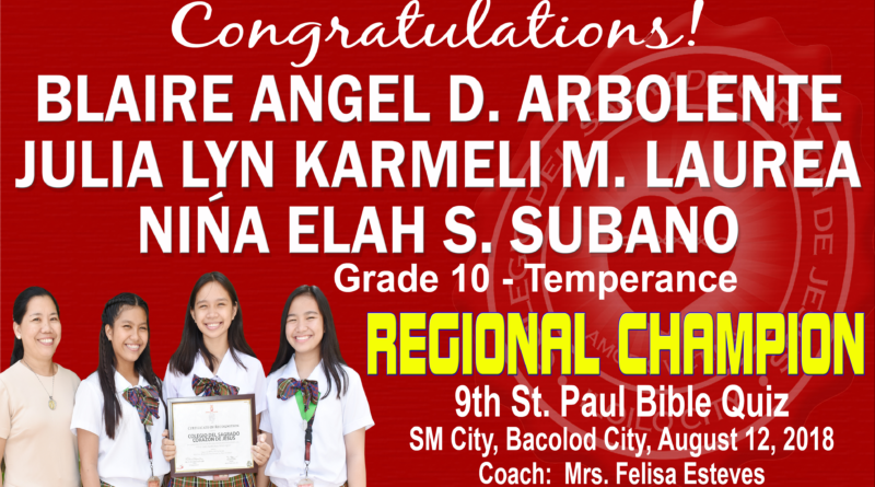 Bible Quiz – Regional Champion