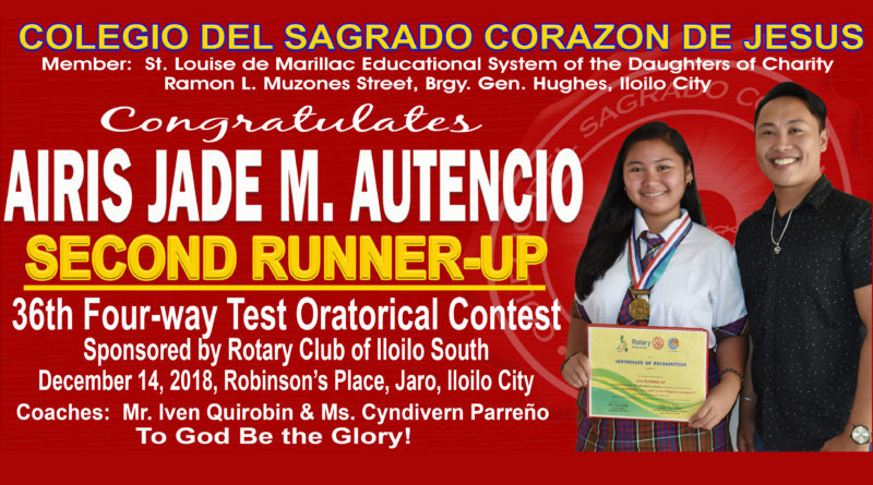 Rotary Iloilo South – 2nd Runner-Up